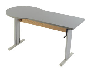 Accella End Zone Sit to Stand Workstation