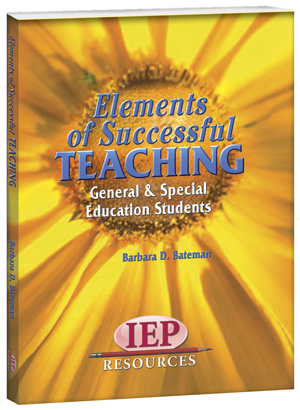 Elements of Successful Teaching