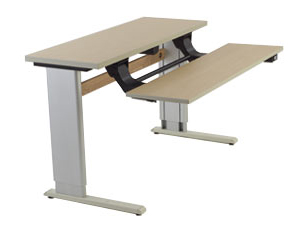 Infinity Two Story Bi-Level Workstation with Powered Adjustment